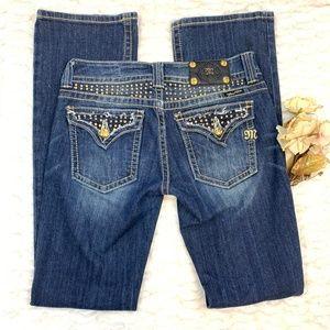 Miss Me Embellished Flap Pocket Boot Jeans
